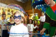 Детский праздник в Чудо-Школе Умница. Шоу мыльных пузырей