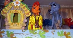 """выездной кукольный спектакль """"Храбрый заяц"""" для детей в измайлово"""
