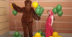 Маша и Медведь на день рождения ребенка