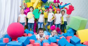 Поролоновое шоу в детский день рождения